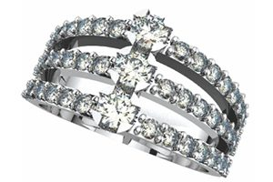white gold ladies ring